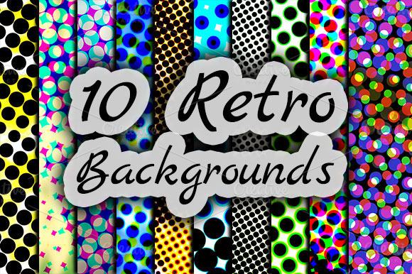 10 Retro Backgrounds