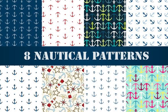 Set Of 8 Nautical Patterns