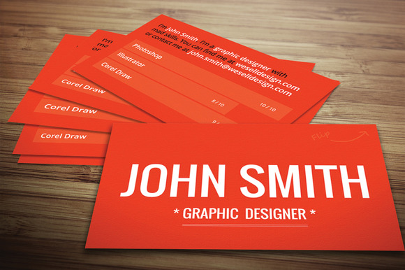 Red Textured Business Card