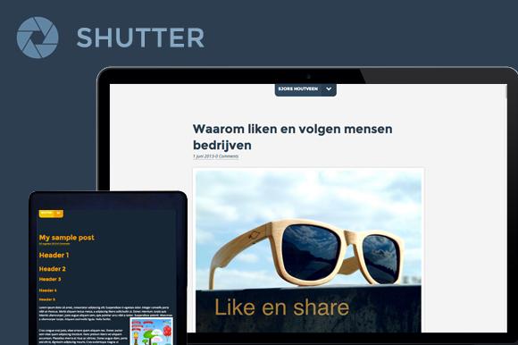 Shutter Blog Theme