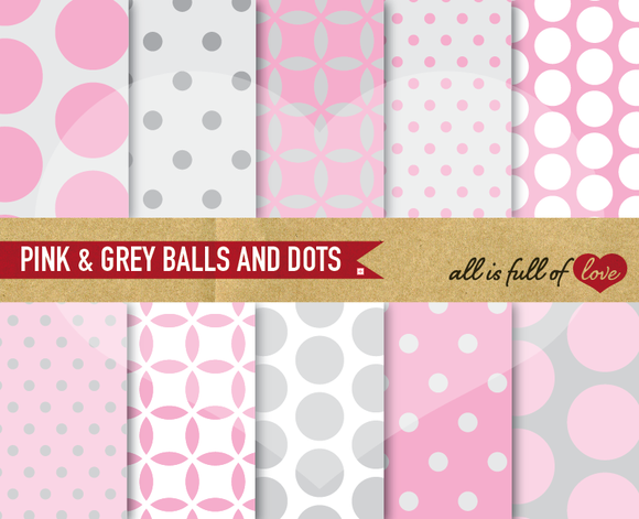 Printable Scrapbooking Pink Patterns