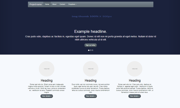 Bootstrap 3.0 V Theme Classic Plus