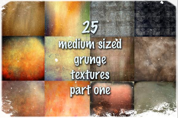 25 Medium Sized Grunge Textures 1