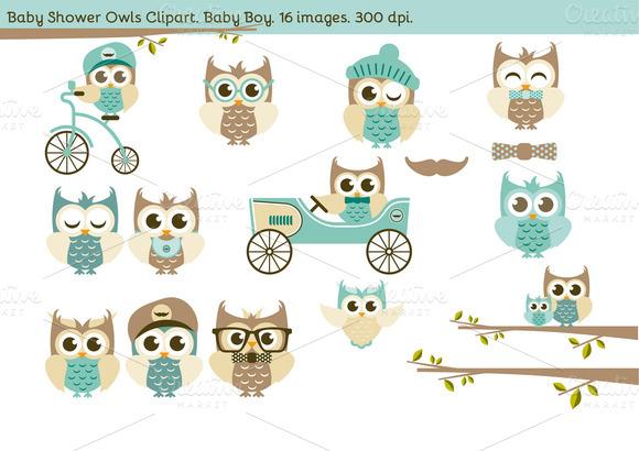 Baby Shower Owls Baby Boy