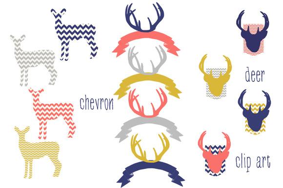 Chevron Deer Clip Art