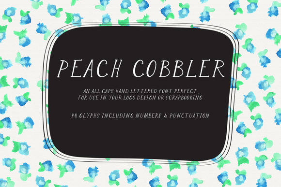 Peach Cobbler Handlettered Typeface
