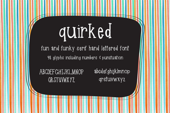 Quirked Handlettered Typeface