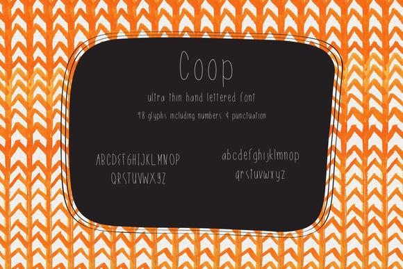 Coop Handlettered Font