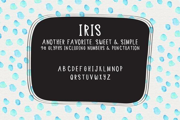 Iris Handlettered Typeface