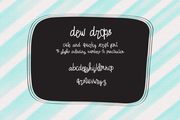 Dewdrops Handlettered Quirky Type