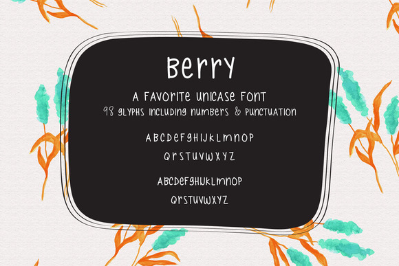 Berry Handlettered Typeface
