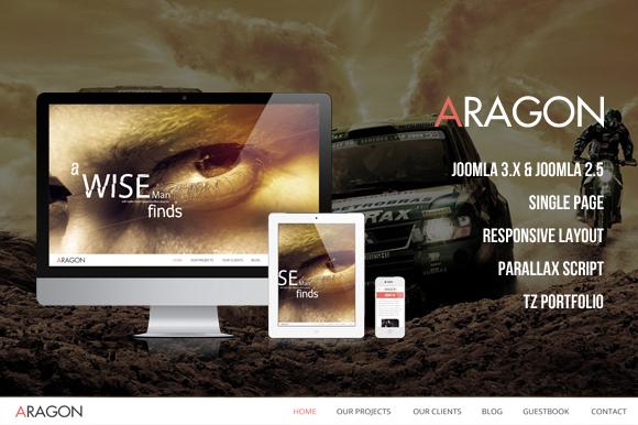 Aragon Parallax Joomla Template