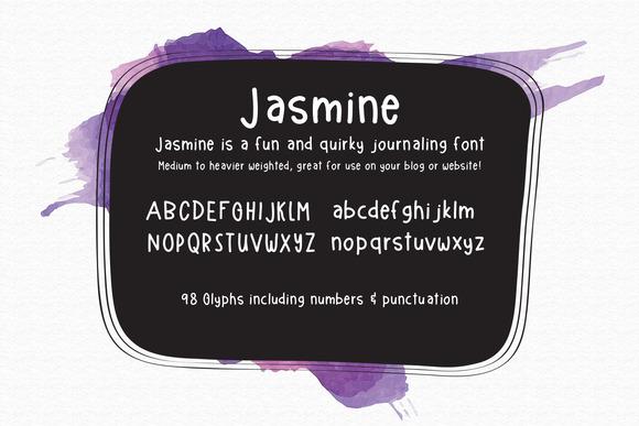 Jasmine Handlettered Font