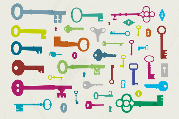 43 Vector Key Shapes