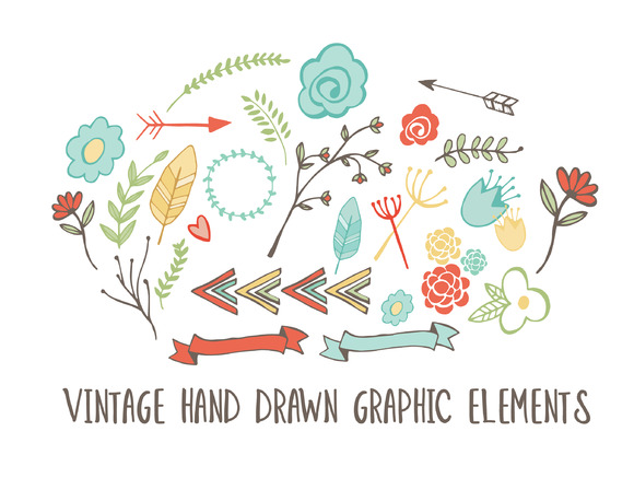 26 Vintage Hand Drawn Elements