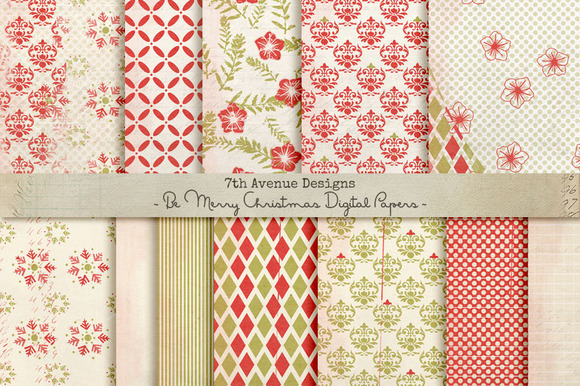 Be Merry Digital Papers
