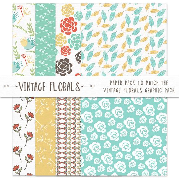 Vintage Floral Paper Pack