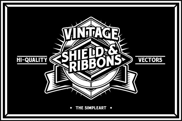Vintage Shield Ribbons