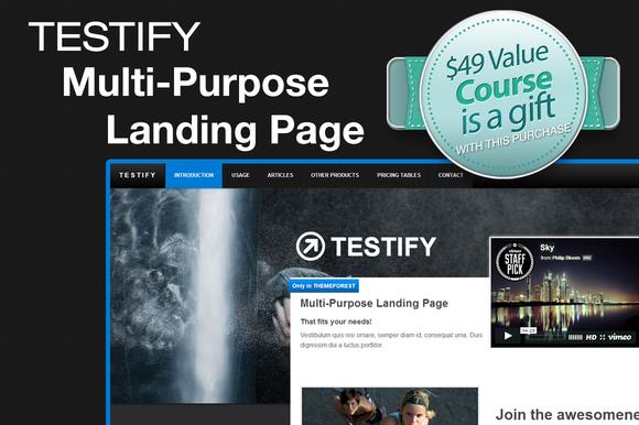Testify Landing Page
