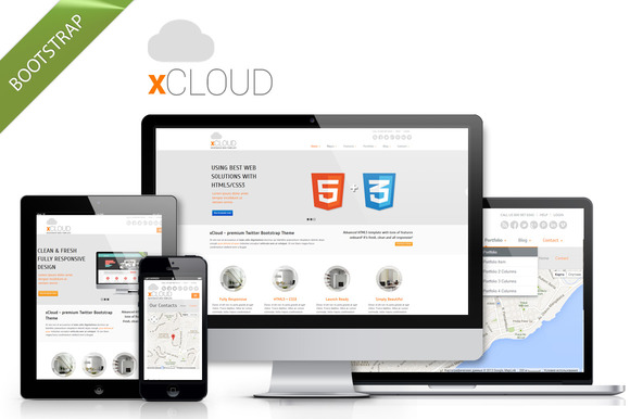 XCloud Simple Clean HTML5 Template