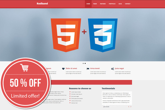 RedBand Theme For Business