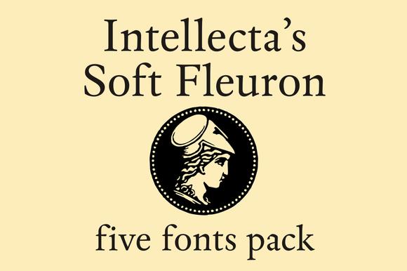 Soft Fleurons Pack Five Fonts