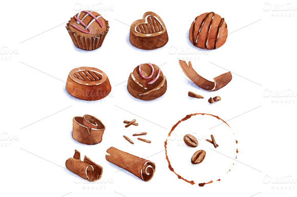 Set Of Chocolate Candy