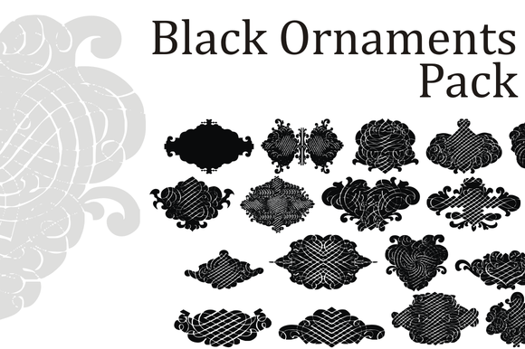 Black Ornaments Pack