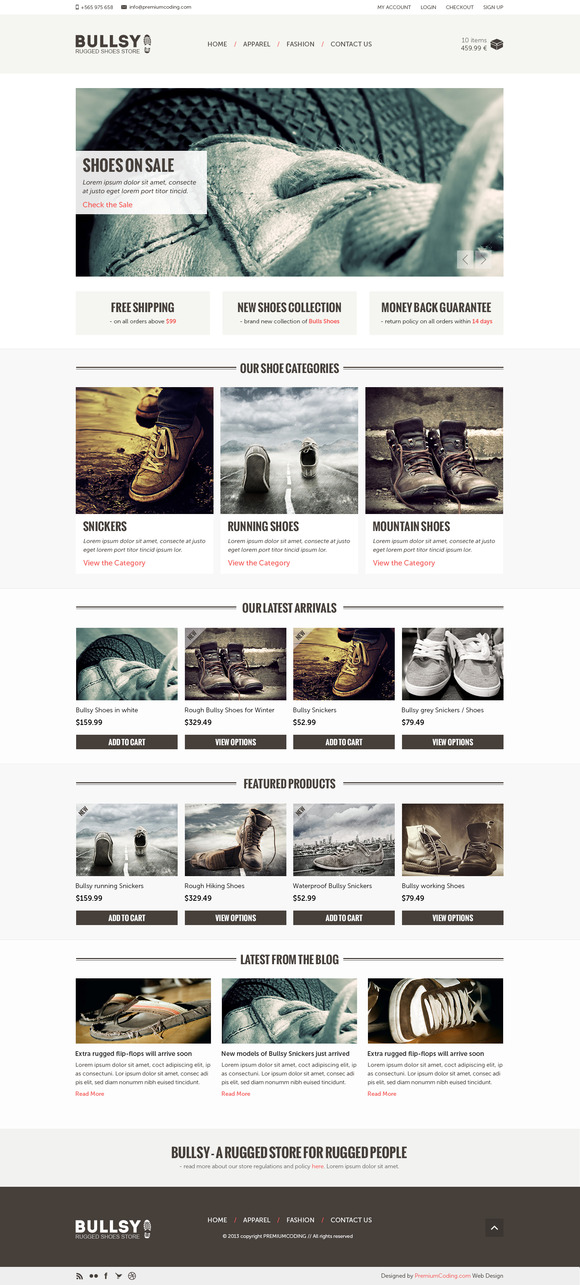 Bullsy A Rugged Ecommerce Template