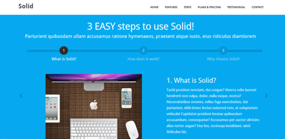 Solid Bootstrap HTML Template