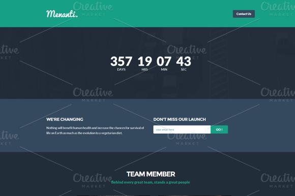 Menanti Bootstrap Landing Page