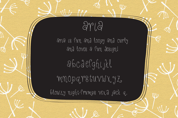Aria Curly Lettering Font