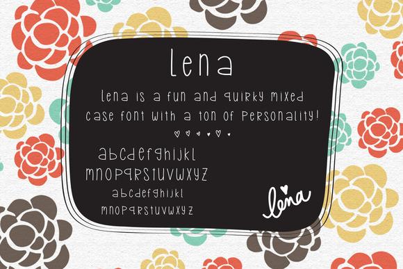 Lena Handlettered Font