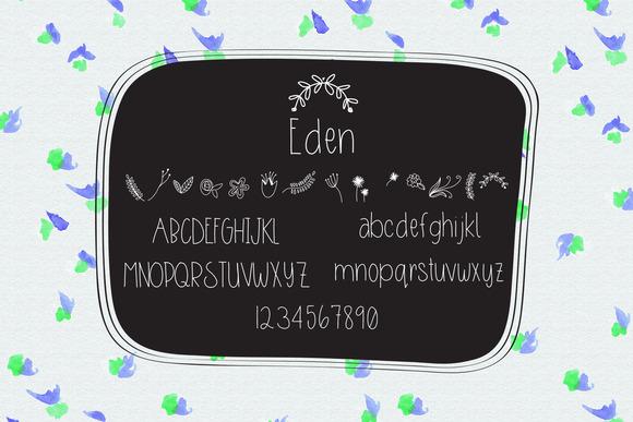 Eden Handlettered Font Extras