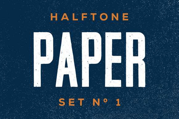 Halftone Paper Textures Set One