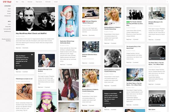 WallPin WordPress Pinterest Theme
