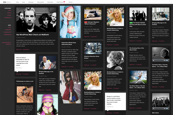WallDark Pinterest WordPress Theme