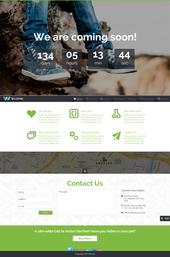 Wildfire One Page Multipurpose PSD