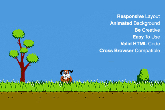 Duck Hunt Responsive 404 Error HTML