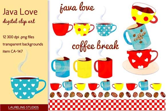 Java Love Digital Clip Art Set