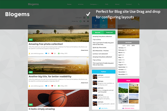 BloGems WordPress Blogs Site Theme