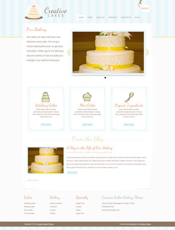 Creative Cakes Bakery Theme