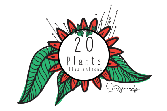 20 Plants Illustrations Vector Art