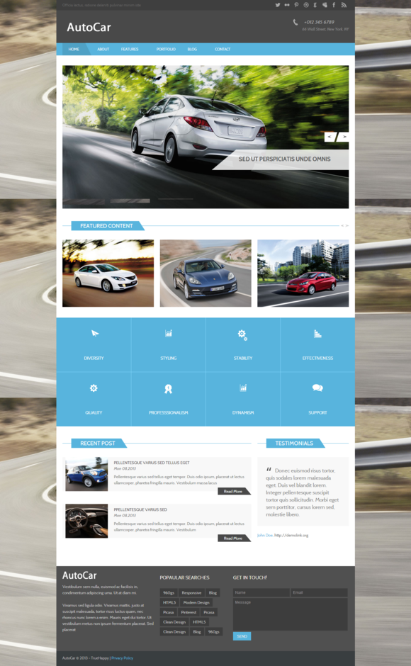 Autocar Bootstrap HTML Template
