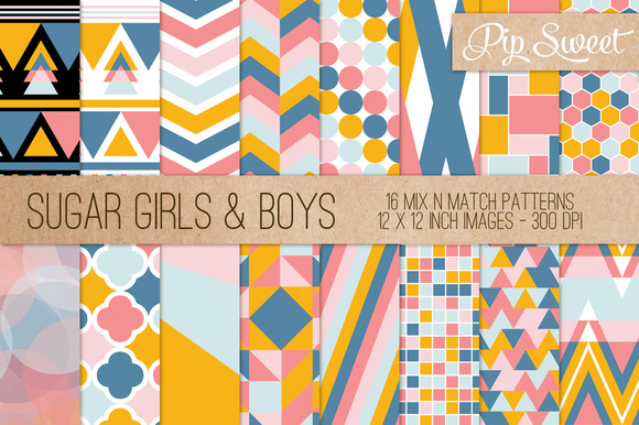 Sugar Girls Boys 16 Pattern Set