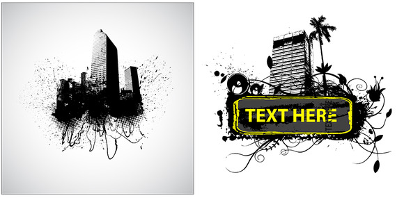 Urban Grunge Vector Designs