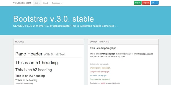 Bootstrap 3.0 WhiteFlatty Theme
