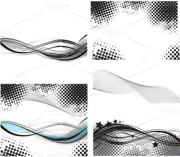 Retro Wavy Backgrounds Overlays