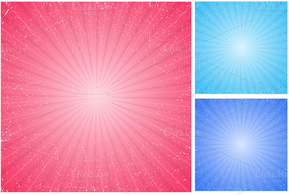 Sunbursts Vector Designs