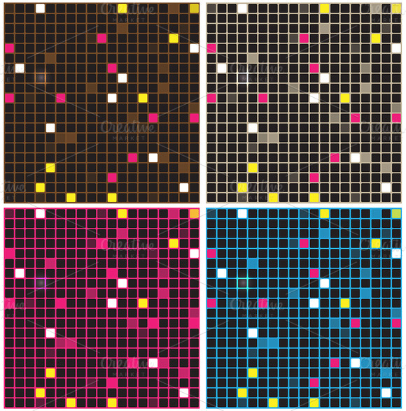 Retro Mosaic Backgrounds